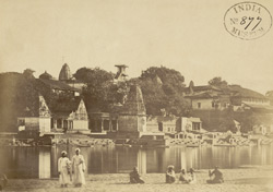 Ghats and temples on the River Sipra at Ujjain 1000333383